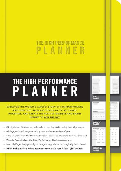 The Yellow High Performance Planner