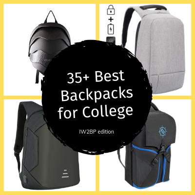 photo collage of the the best backpacks for college